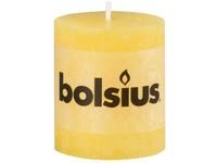 Bolsius Rustic Válec 68x80 žlutá svíčka