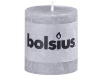 Bolsius Rustic Válec 68x80 šedá svíčka