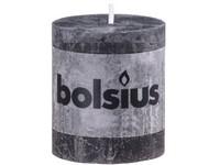 Bolsius Rustic Válec 68x80 černá svíčka