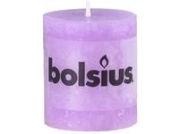 Bolsius Rustic Válec 68x80 sv. fialová svíčka