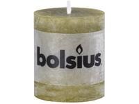 Bolsius Rustic Válec 68x80 olivově zelená svíčka
