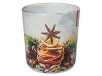 Bolsius Sklo 73x80mm Vánoční dekorace vonná svíčka