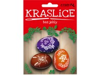 Barvy na vejce 3 barvy + samolepky I.červené Kraslice bez jehly