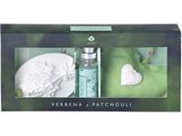 Sada 10 ml jílový difuzér s barevnou stužkou, dekorativní polštářek ve tvaru srdce/Verbena & Patchouli