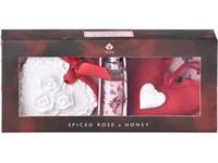 Sada 10 ml jílový difuzér s barevnou stužkou, dekorativní polštářek ve tvaru srdce/Spiced Rose & Honey