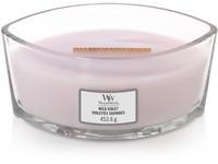 WoodWick Wild Violet svíčka loď