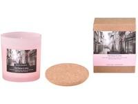 Svíčka ve skle 75x80 mm s korkovým víčkem vonná Pink Peony and Litchi