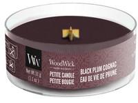 Woodwick Black Plum Cognac svíčka petite