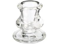 Svícen sklo masiv 62x57 mm na kónickou svíčku čirý