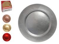 Tác kov kulatý červený, zlatý, stříbrný, meďěný,mix