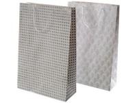 Taška Vánoční 310x420 mm bílo stříbrná, mix