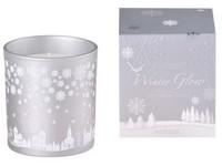 Svíčka ve skle 80x90 mm vonná, v dárkové krabičce Snowy Wonderland