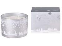 Svíčka ve skle 110x80 mm 3 knoty vonná, v dárkové krabičce Snowy Wonderland