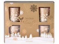 Svíčka ve skle 50x62 mm 6 ks vonná, v dárkové krabičce Frankincense & Myrrh