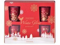 Svíčka ve skle 50x62 mm 6 ks vonná, v dárkové krabičce Winter Spice