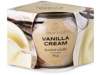 Emocio Sklo Dekor 70x62 mm Vanilla Cream, vonná svíčka