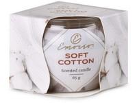 Emocio Sklo Dekor 70x62 mm Soft Cotton, vonná svíčka