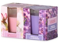 Emocio Sklo 52x65 mm 2 ks v krabičce Orchard Blossom & French Lavender, vonná svíčka