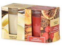 Emocio Sklo 52x65 mm 2 ks v krabičce Vanilla Cream & Apple Cinnamon, vonná svíčka