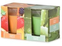 Emocio Sklo 52x65 mm 2 ks v krabičce Tasty Fruit & Aloe Vera, vonná svíčka