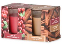 Emocio Sklo 52x65 mm 2 ks v krabičce Wild Cranberry & Cinnamon Stick, vonná svíčka