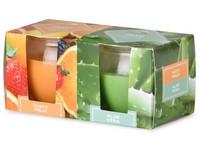 Emocio Sklo 65x63 mm 2 ks v krabičce Tasty Fruit & Aloe Vera, vonná svíčka