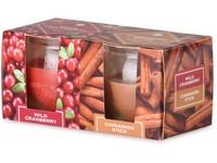 Emocio Sklo 65x63 mm 2 ks v krabičce Wild Cranberry & Cinnamon Stick, vonná svíčka