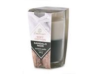 Emocio Sklo 76x118 mm Soft Cotton & Sandalo Noir dvoubarevná vonná svíčka