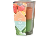 Emocio Sklo 76x118 mm Tasty Fruit & Aloe Vera dvoubarevná vonná svíčka