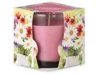 Emocio Sklo 75x82 mm Garden Blossoms vonná svíčka