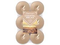 Emocio čajové vonné svíčky ~4 hod. 12 ks Coastal Relax