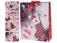 Taška dárková 260x320 mm, vánoční mix