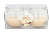 Emocio Sklo 56x55 mm 2 ks v plastové krabičce Sweet Vanilla vonná svíčka