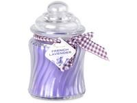 Emocio Sklo 76x125 mm se skleněným víčkem French Lavender vonná svíčka