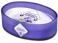 Emocio Sklo barevné 144x102x50 mm ovál 2 knoty French Lavender vonná svíčka