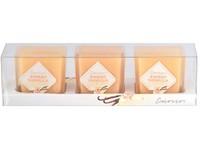 Emocio Sklo barevné 51x51x52 mm 3 ks Sweet Vanilla vonná svíčka