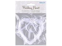 Dekorace 110x120 mm srdce svatební