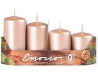Emocio Stupně 4ks prům.40mm Metal béžové svíčky