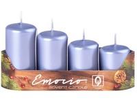 Emocio Stupně 4ks prům.40mm Metal ledové svíčky