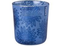 Bolsius Sklo 73x80mm Květ modrá vonná svíčka