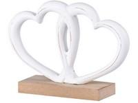 Dřevěná dekorace 150x40x105 mm srdce