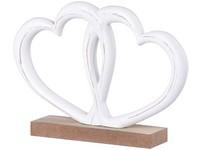 Dřevěná dekorace 220x40x150 mm srdce