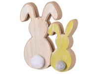 Dřevěná dekorace 160x20x180 mm zajíc, mix