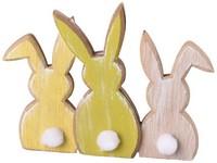 Dřevěná dekorace 150x20x110 mm zajíc, mix