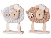 Dřevěná dekorace 125x40x150 mm ovečka, mix