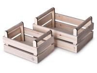 Bedýnka dřevo 2 ks 280x190x135 mm, přírodní Home Sweet Home