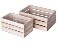 Bedýnka dřevo 2 ks 300x200x130 mm, přírodní