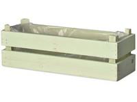 Truhlík dřevo 300x100x100 mm, zelená