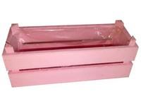 Truhlík dřevo 300x100x100 mm, růžová