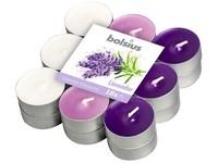 Bolsius Čajové 18ks Lavender tříbarevné, vonné svíčky